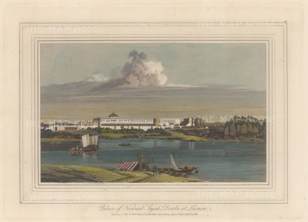 Lucknow: Palace of Nawab Shuja-ud-Daulah from the river Gomti.