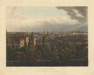 "Ackermann: Oxford, Oxfordshire. An original colour antique aquatint. 12"" x 10"". [OXONp801]"