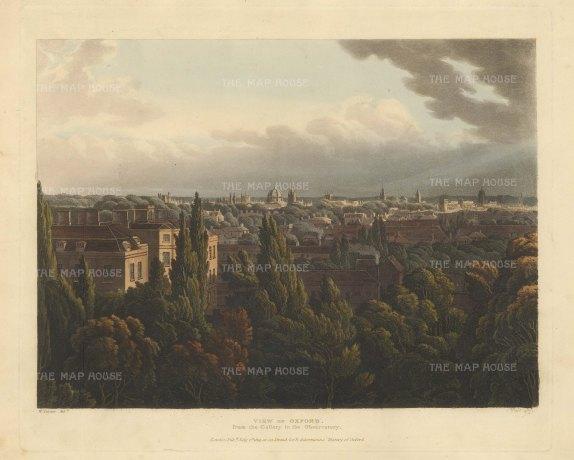 "Ackermann: Oxford. An original colour antique aquatint. 12"" x 10"". [OXONp801]"