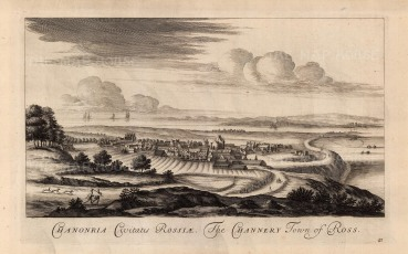 """Theatrum Scotiae: Ross. 1814. An original antique copper engraving. 11"""" x 18"""". [SCOTp1622]"""