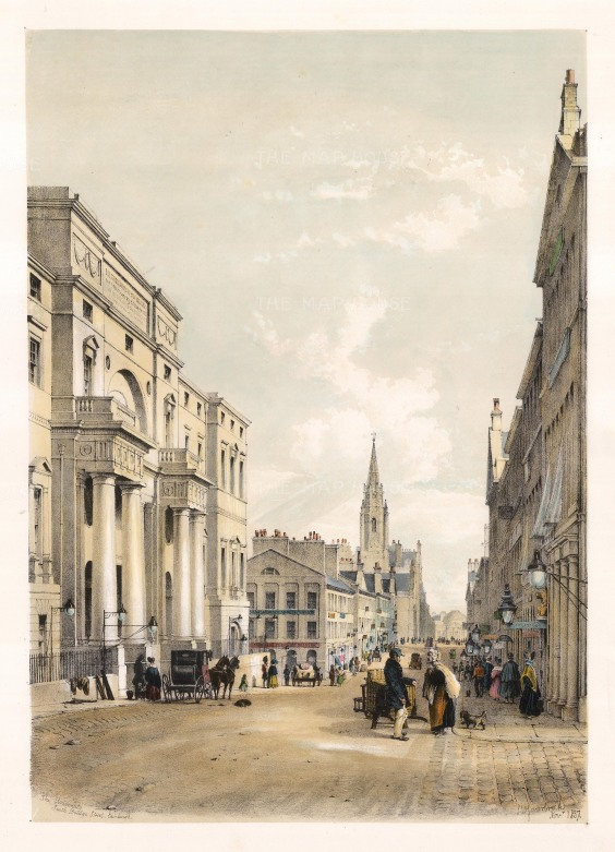 "Swarbeck: Edinburgh University, South Bridge Street. 1837. A hand-coloured original antique lithograph. 16"" x 12"". [SCOTp824]"