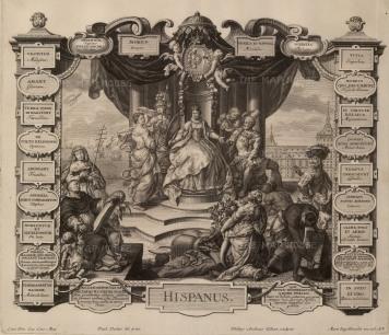 "Engelbrecht, ""Hispanus"", 1737. An original black and white copper-engraving. 15"" x 16"". £POA."
