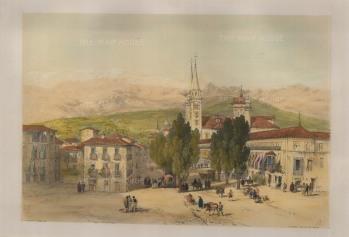 """Vivian, 'Carrera del Daro', 1838. An original colour lithograph. 12"""" x 18"""". £POA"""