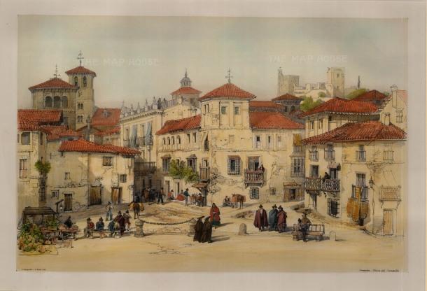 """Vivian, 'Plaza del Campillo', 1838. An original colour lithograph. 12"""" x 17"""". £POA."""