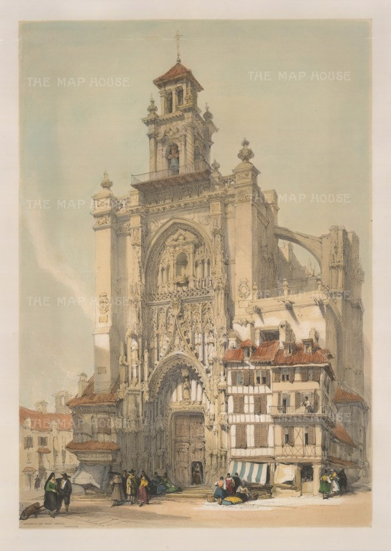 """David Roberts, 'Jerez, Church of San Jago', 1838. An original lithograph. 13"""" x 17"""". £POA."""