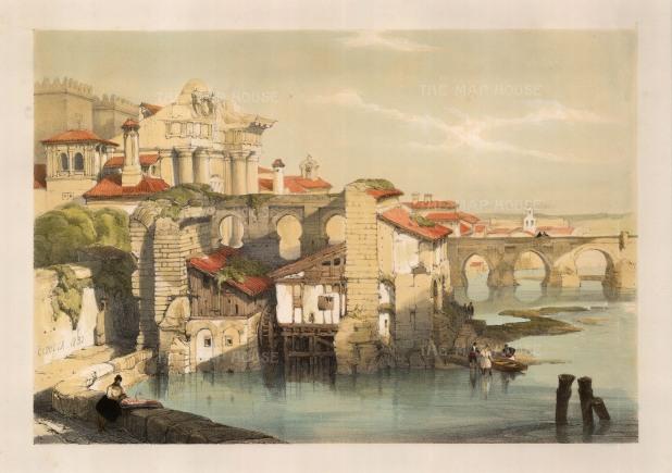 """Roberts: Cordoba. 1832. A hand coloured original antique lithograph. 13"""" x 18"""". [SPp911]"""