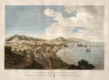 "Swinburne, ""Barcelona"", 1806. A hand-coloured original copper-engraving. 12"" x 16"". £POA."