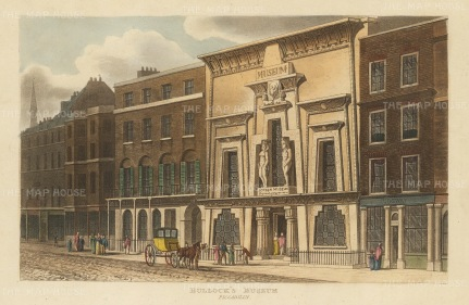 "Papworth: Bullock's Museum.1816. An original colour antique aquatint. 8"" x 6"". [LDNp2793]"
