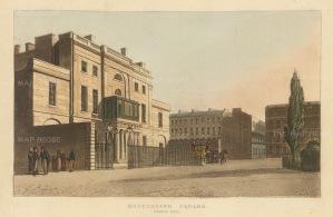 "Papworth: Manchester Square. 1816. An original colour antique aquatint. 8"" x 6"". [LDNp7077]"