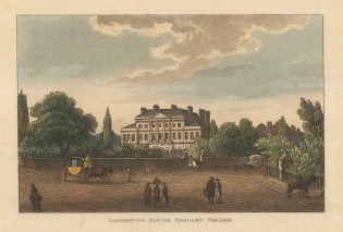 "Papworth: Lansdowne House, Berkley Square. 1816. An original colour antique aquatint. 8"" x 6"". [LDNp7873]"