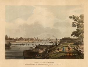 "Ackermann, 'View of the City of Moscow', 1813. An original colour aquatint. 10"" x 12"". £POA."