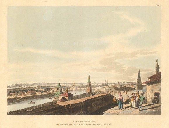 "Ackermann: Moscow. 1813. An original colour antique aquatint. 10"" x 12"".[RUSp719]"