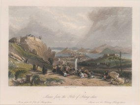 "Wright, 'Macao', 1843. A hand-coloured original steel-engraving. 7"" x 9""."