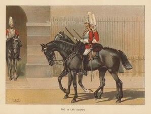 "Richards: The Life Guards: c.1890. An original chromo-lithograph. 7"" x 9""."