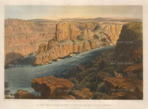 Zambesi River. The Profile Cliff, Narrow Gorge and Torrent of the Zambesi.