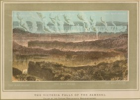 "Anon: Victoria Falls, Zambia and Zimbabwe. An original antique chromo-lithograph. 9"" x 7"". [AFRp1206]"