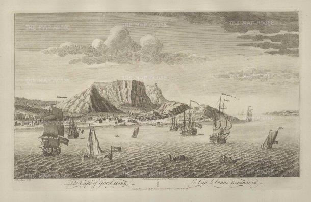 "Sayer: Cape of Good Hope. 1774. An original antique copper engraving. 18"" x 12"". [AFRp1305]"