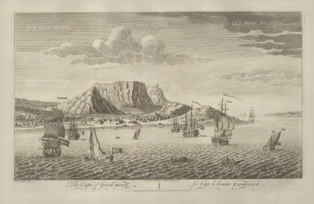 "Sayer: Cape of Good Hope. 1774. An original antique copper-engraving. 18"" x 12"". [AFRp1305]"