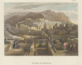 Tetuan, Morocco: View of the Medina and old town.