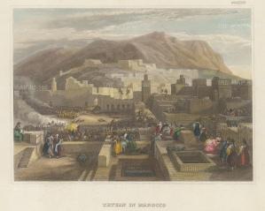 "Meyer: Tetuan, Morocco. 1836. A hand c oloured original antique steel engraving. 7"" x 6"". [AFRp1314]"