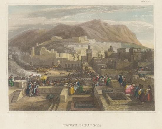 Tetuan: View of the Medina and old town.