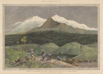 Ruwenzori mountains, Uganda: Discovered by Henry Stanley's Expedition and thought to be Diogenes's fabled Mountains of the Moon, the source of the Nile.