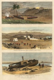 "Graphic Magazine: Sudan. 1885. A hand coloured original antique wood engraving. 10"" x 13"". [AFRp1376]"