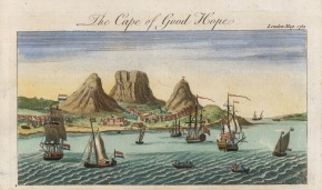 Cape of Good Hope: View of the colony from the sea when it was a possession of the Dutch East India Company