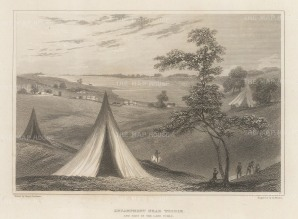 "Denham: Lake Chad, Chad. 1826. An original antique steel engraving. 8"" x 6"". [AFRp1401]"