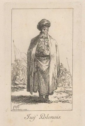 Le Prince: Traditional Polish Dress. 1768. An original antique copper-engraving. 5 x 6 inches. [CEUp252]