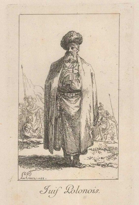 "Le Prince: Traditional Polish Dress. 1768. An original antique copper engraving. 5"" x 6"". [CEUp252]"