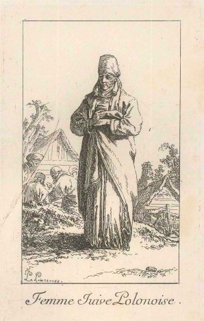 Le Prince: Traditional Polish Dress. 1768. An original antique copper-engraving. 5 x 6 inches. [CEUp253]