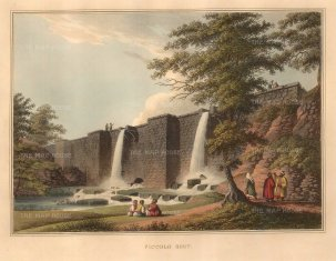 "Mayer: Belgrade, Serbia. 1810. A hand coloured original antique aquatint. 14"" x 11"". [CEUp472]"