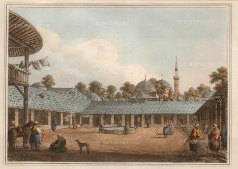Mayer: Borgas, Bulgaria. 1810. An original antique aquatint. 14 x 11 inches. [CEUp476]
