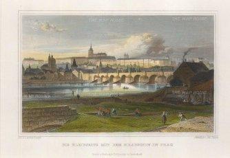 Lange: Prague, Czech Republic. Circa 1830. A hand-coloured original steel-engraving. 8 x 6 inches. [CEUp484]