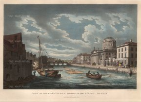 "Malton: Dublin. 1799. A hand-coloured original antique aquatint. 15"" x 10"". [IREp299]"