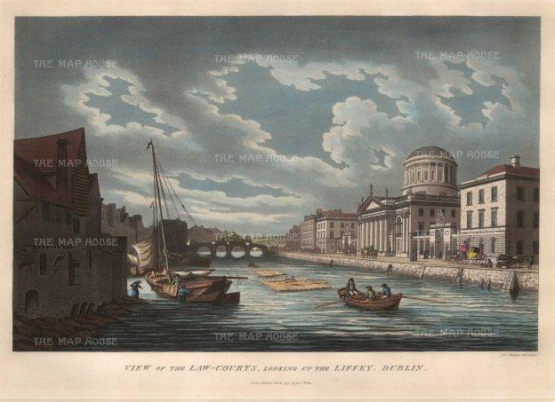 "Malton: Dublin. 1799. A hand coloured original antique aquatint. 15"" x 10"". [IREp299]"