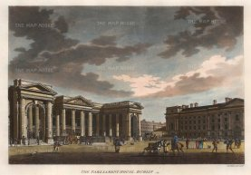 "Malton: Dublin. 1793. A hand-coloured original antique aquatint. 17"" x 13"". [IREp379]"