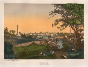"Sibler: Dublin. 1850. An original colour antique lithograph.12"" x 15"". [IREp464]"