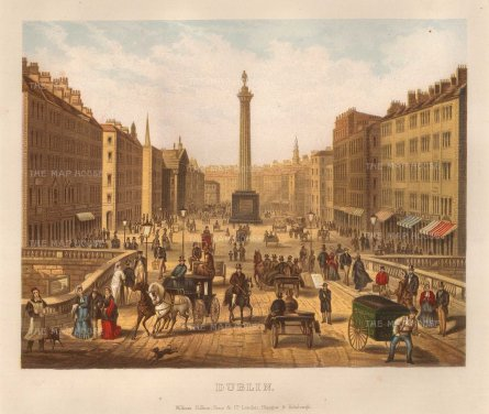 "Collins: Dublin. c1890. An original antique chromo-lithograph. 10"" x 9"".[IREp641]"