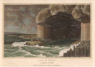 "Daniell: Fingal, Leinster. c1807. A hand-coloured original antique aquatint. 8"" x 5"". [IREp664]"