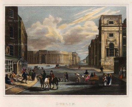 "Kelly: Dublin. c1817. A hand-coloured original steel engraving. 9"" x 7"". [IREp669]"