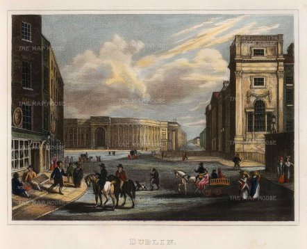 "Kelly: Dublin. c1817. A hand-coloured original steel engraving. 9"" x 7"". [IREp669]"