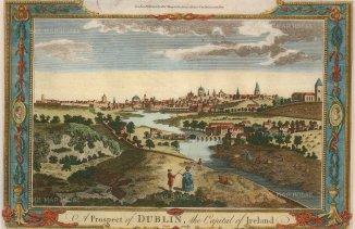 "Millar: Dublin. 1777. A hand-coloured original antique copper engraving. 10"" x 6"". [IREp672]"