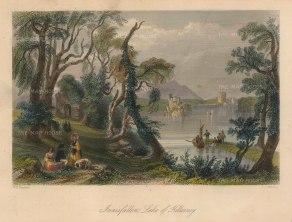 "Bartlett: Innisfallen. 1841. A hand-coloured original antique steel engraving. 8"" x 6"". [IREp678]"