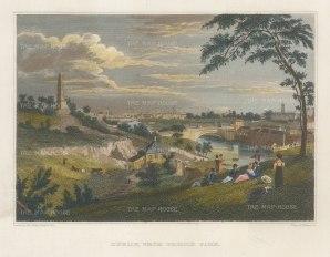 "Petrie: Dublin. c1832. A hand coloured original antique steel engraving. 8"" x 5"". [IREp685]"