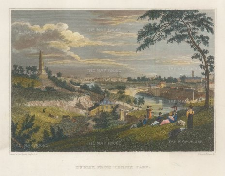 "Petrie: Dublin. c1832. A hand coloured original antique steel engraving. 8"" x 5"". [IREp685]"