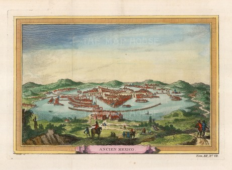 Tenochtitla (Old Mexico City): The Aztec capital before being captured and razed by the Spanish led by Hernan Cortez in the 16th century.