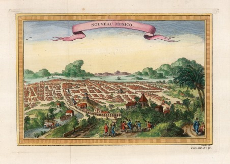 The new city built upon the Aztec capital of Tenochtitla after it's capture by Hernan Cortez of Spain in the 16th century.
