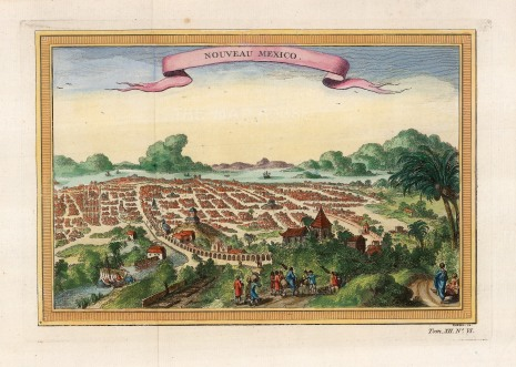 Mexico City: The new city built upon the Aztec capital of Tenochtitla after it's capture by the Spanish under Hernan Cortez in the 16th century.
